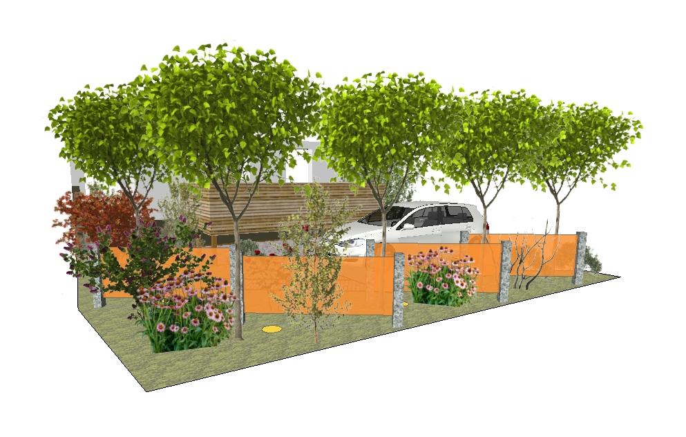 Vorgarten Variante 1 - Visualisierung