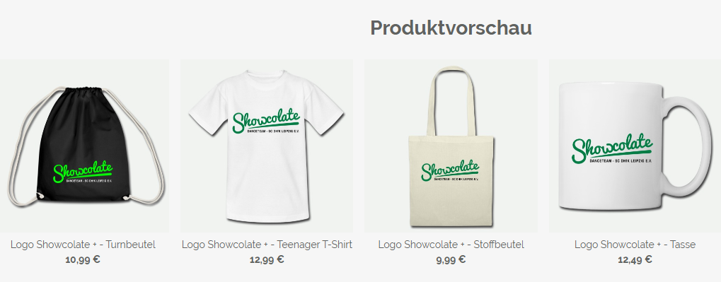Showcolate Merchandise