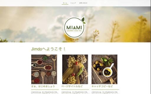 Jimdoテンプレートは「MIAMI」を利用しています。