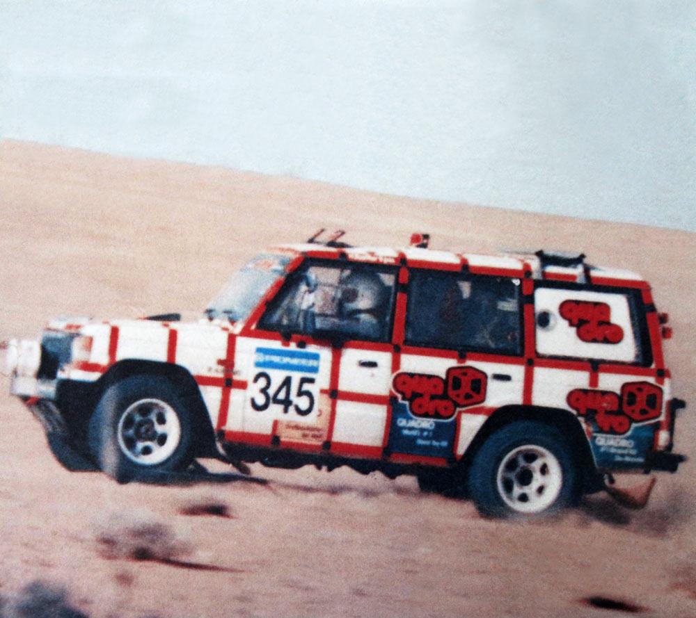Paris-Dakar Rally QUADRO sponsor