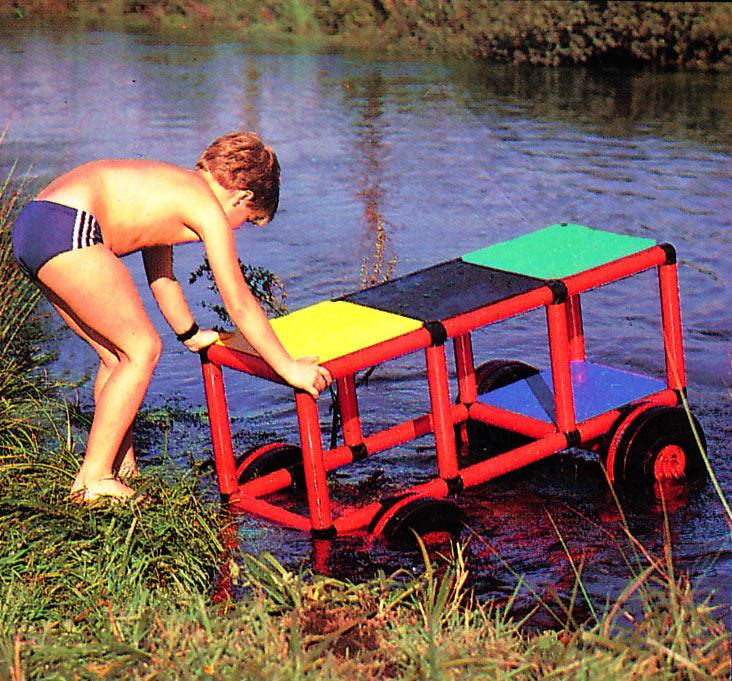 Boy takes QUADRO for a swim in the creek