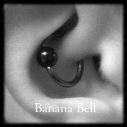 Anneau piercing noir