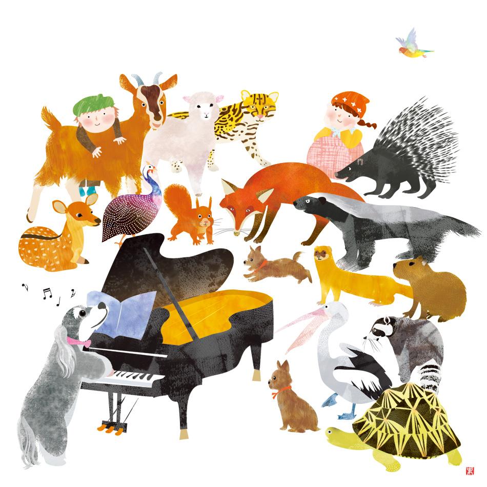 小百合会ピアノ教室 発表会プログラム2017 イラスト