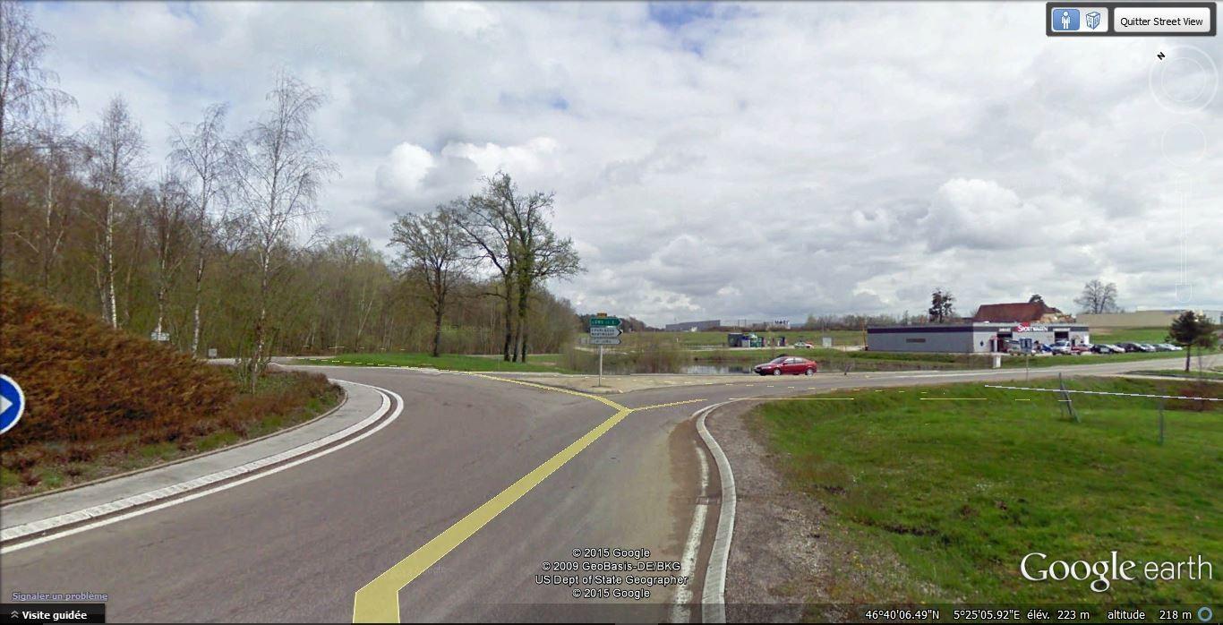 Au rond point de Beaurepaire (Sortie de l'A39), prendre la première à droite direction Lons