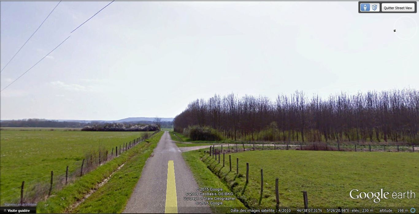 Avant le petit bois, tourner à droite sur le chemin de désserte
