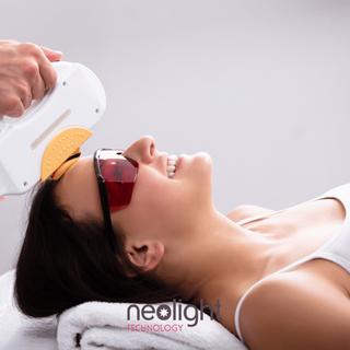 Déroulement d'une séance de photothérapie de la peau:
