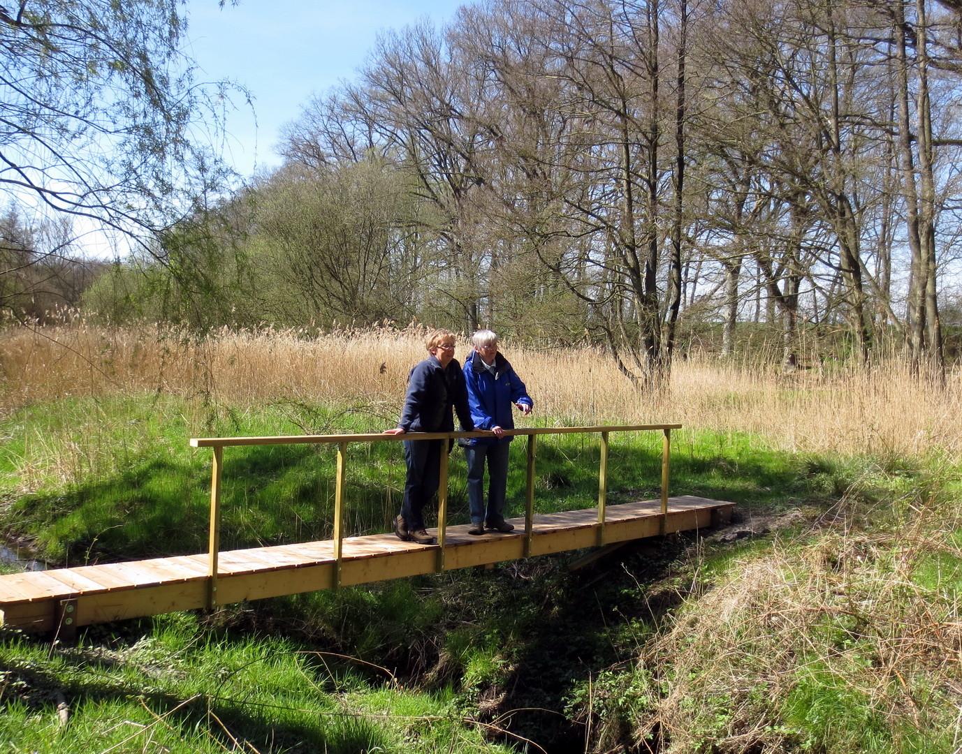 """hier würde Gabys Vorschlag zum Namen des Steges passen: """"Sehbrücke"""""""