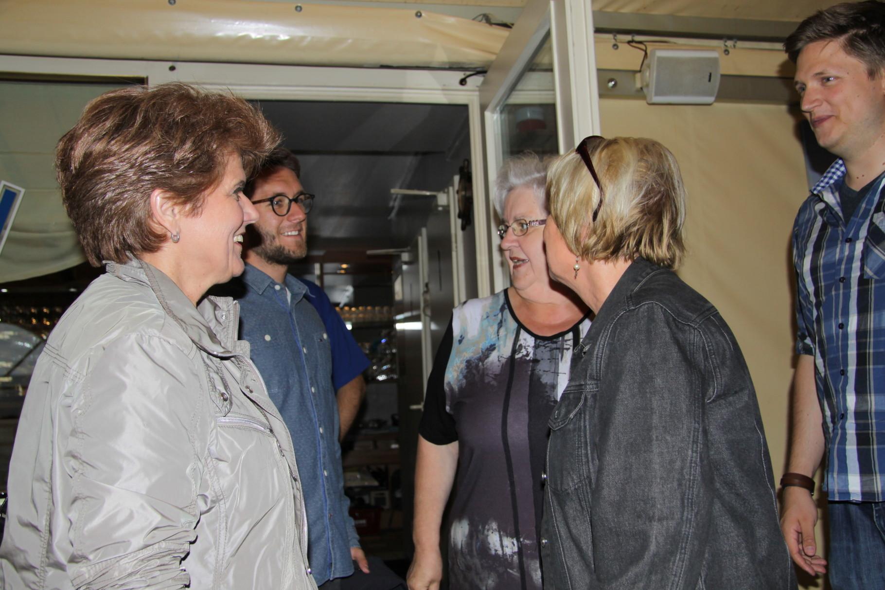 ... Ingrid Otto, Bastian Otto und Heidrun Leenders