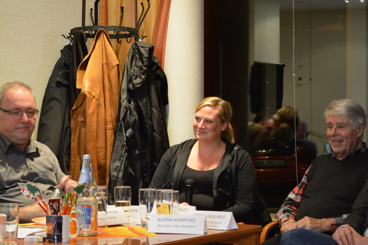 Sabrina Knospe mit Marcus Garcia und Arno Riewoldt