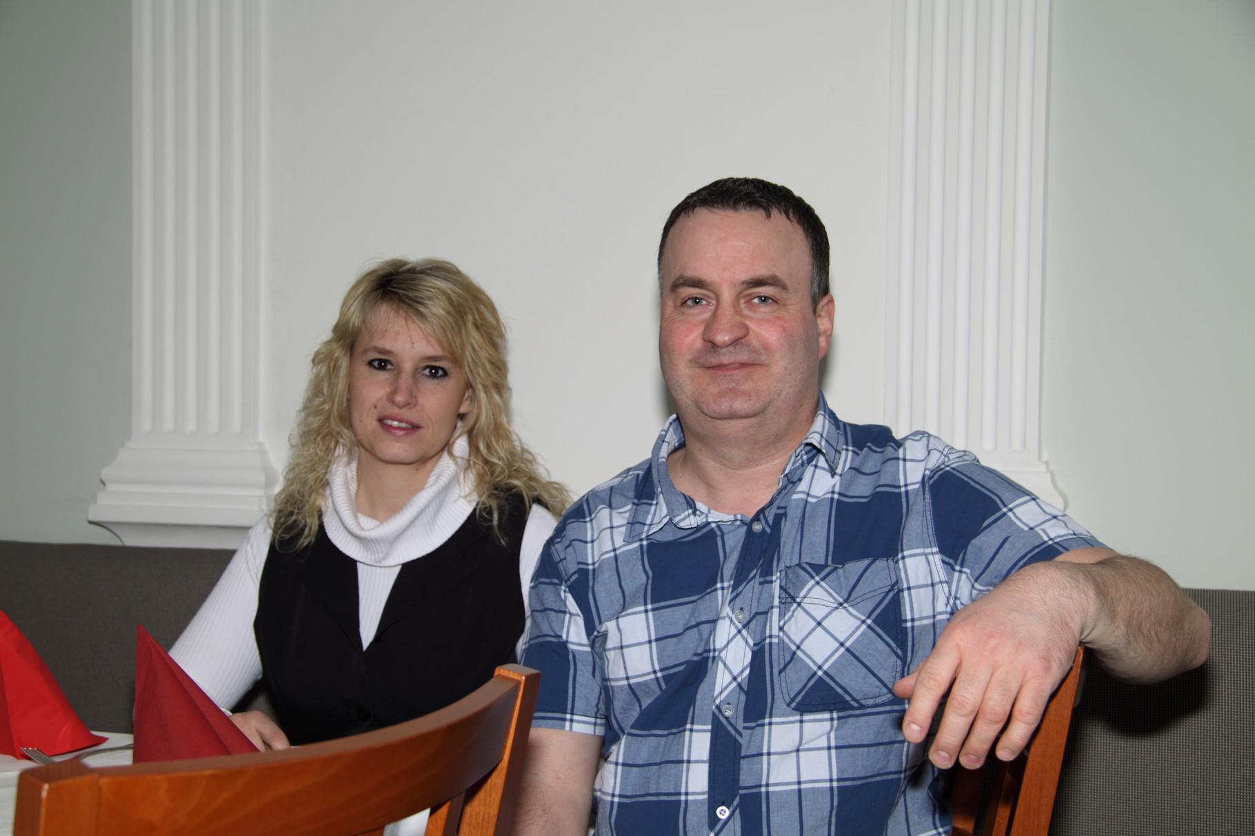 Mit dabei: Tanja und Maik Krause vom HaustierKontor ...