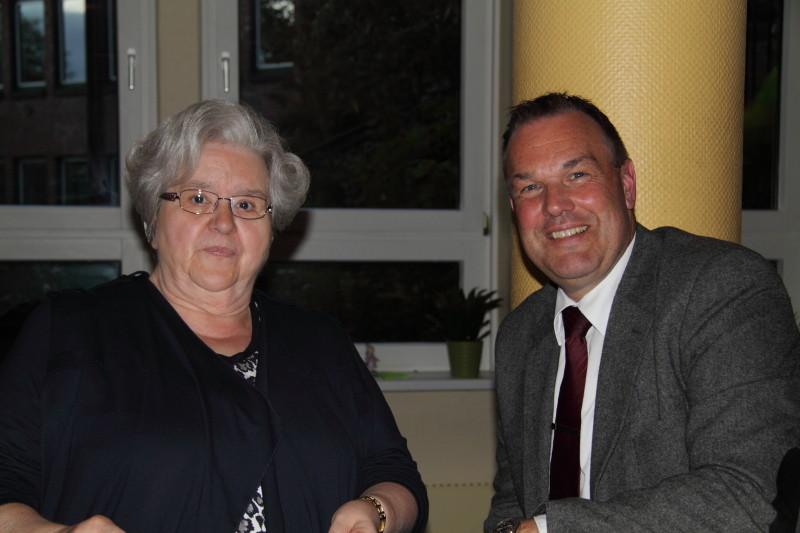 Heidrun Leenders (Fundus) und Thomas Grambow (Vize-Bürgermeister und Schirmherr)