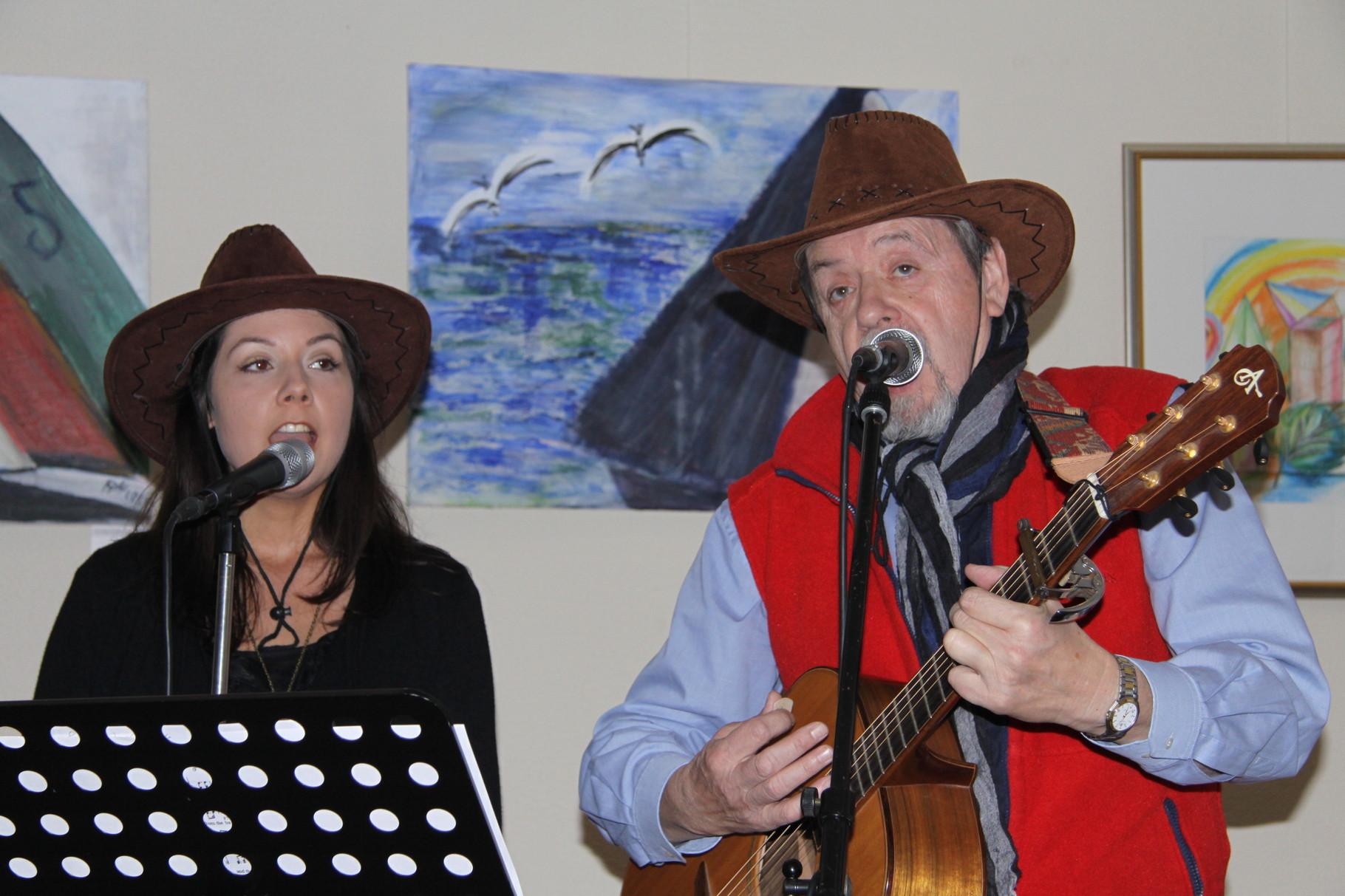Willi Neumann mit Tochter Judith im Duo