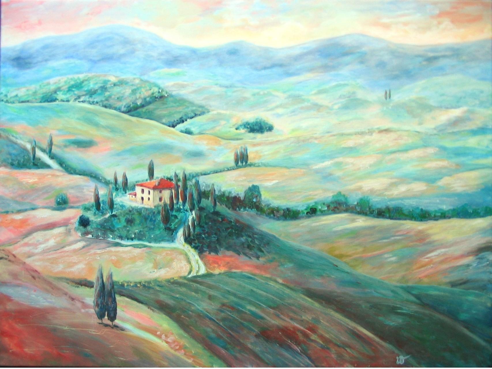 .-. Liebliche Toskana-Landschaft