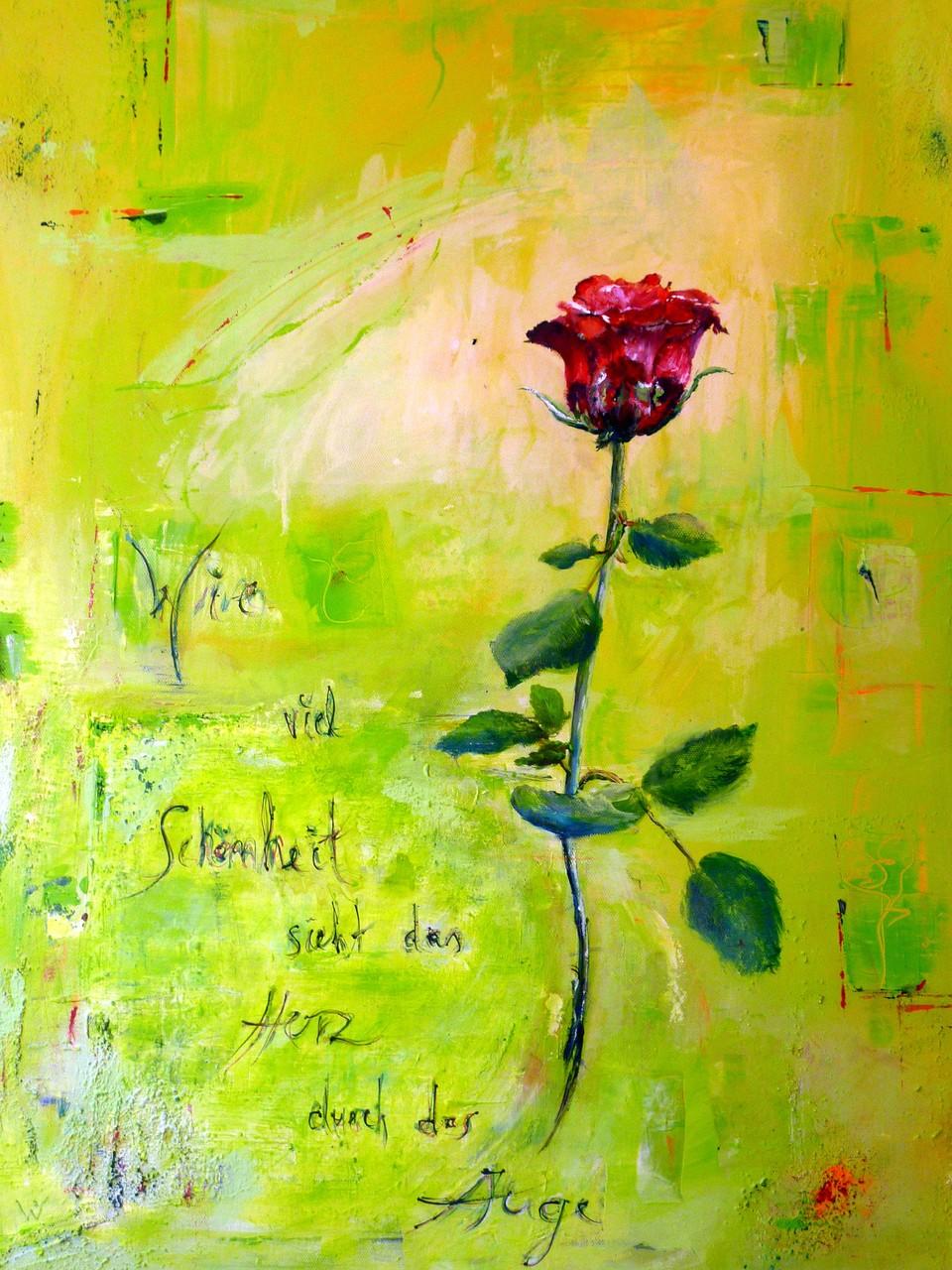 .-. Wie viel Schönheit sieht das Herz durch das Auge