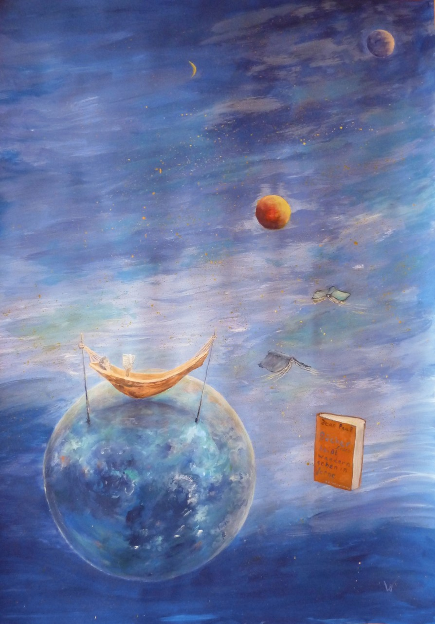 .-. Lesen heißt wandern gehen in ferne Welten, aus den Stuben zu den Sternen
