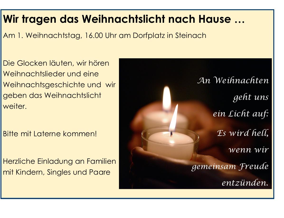 Vorschau 1.Weihnachtsfeiertag in Steinach / Ens