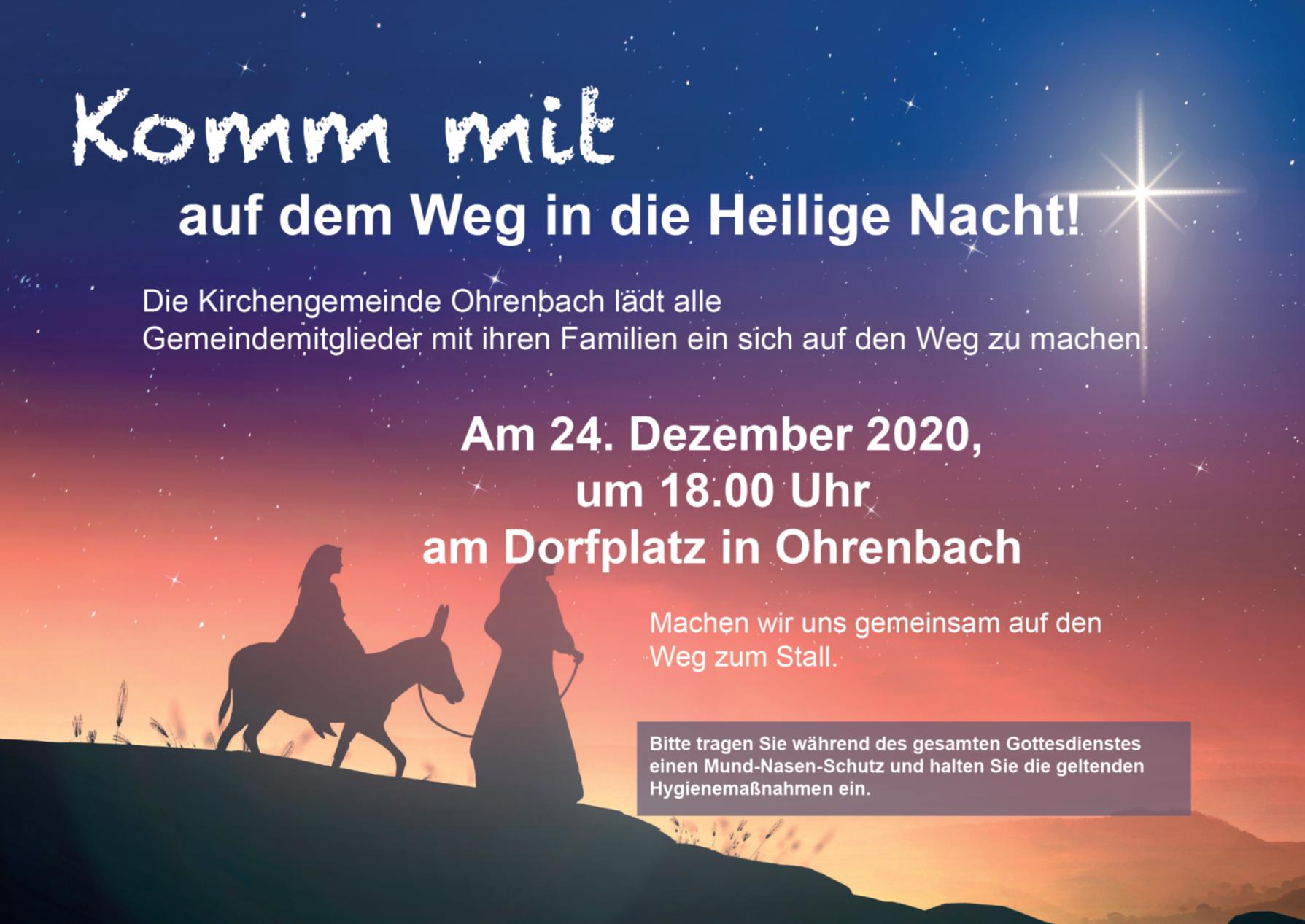HeiligAbend in Ohrenbach - Bitte um Anmeldung