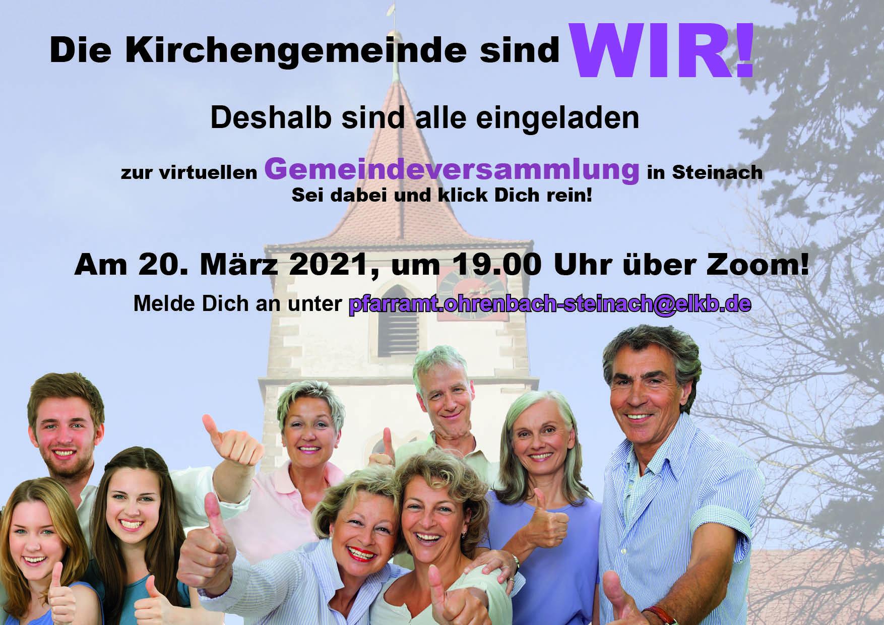 Gemeindeversammlung per Zoom-Videokonferenz