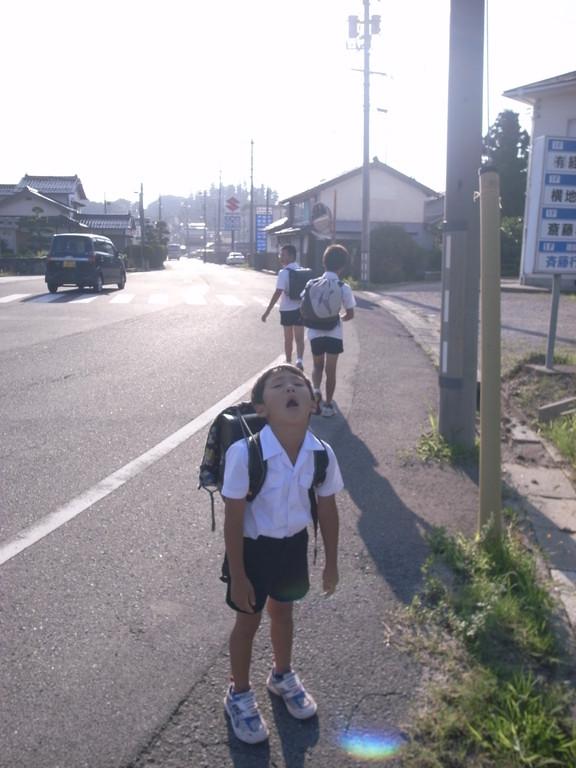 「ねこはいいな~・・・。学校ないけん」BYアバレンボウ 月曜日の朝の名言。毎朝店長さんがここまで歩いて送ってました。