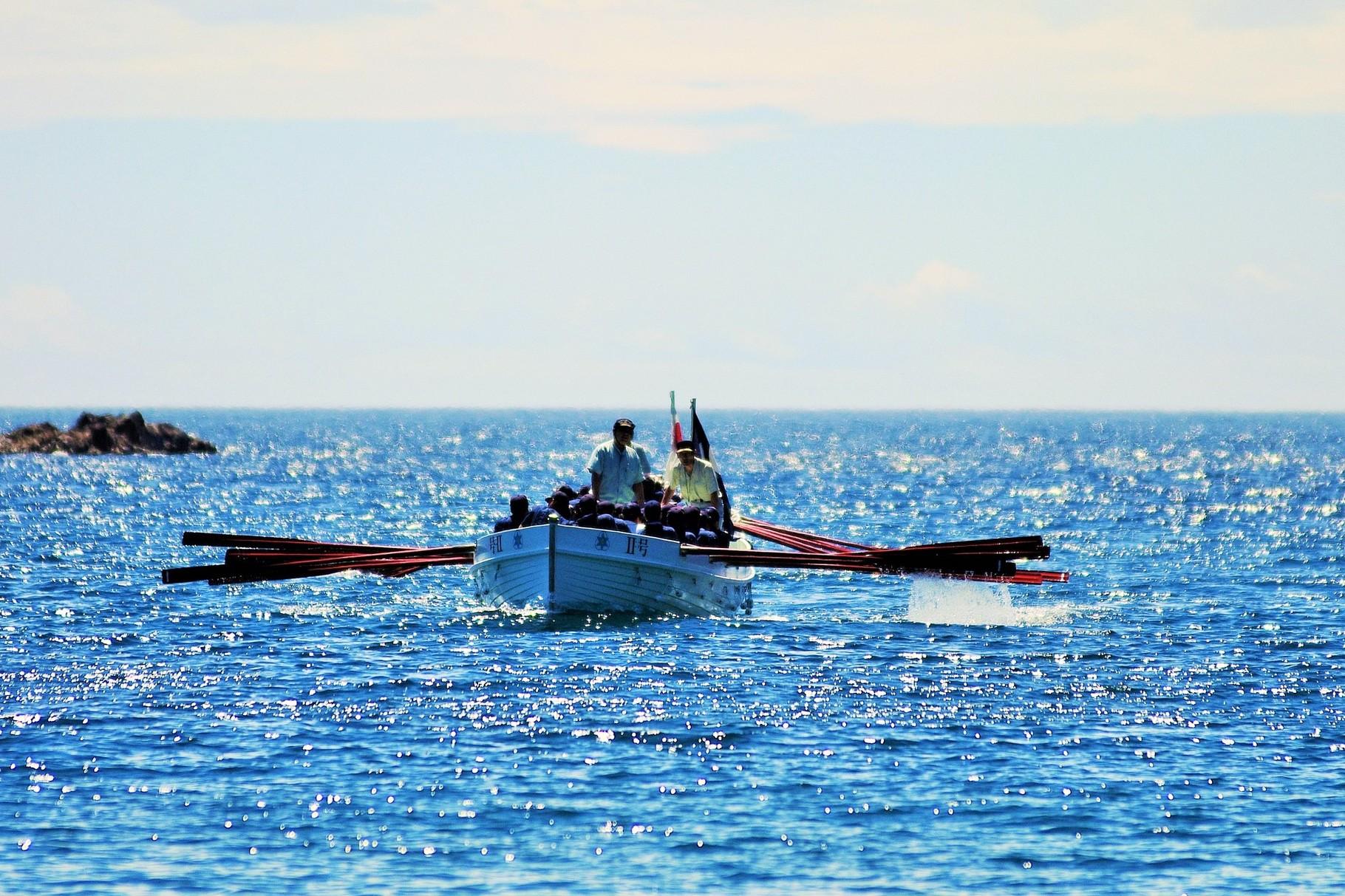 隠岐水産高校 海洋訓練の光景