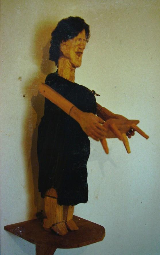 Arbeiterin, Hausfrau, 45cm, Holz, Textil, 1985