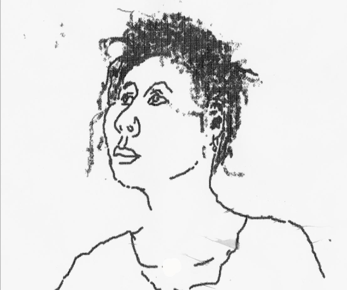 Portrait L. , Mauszeichnung, 1999