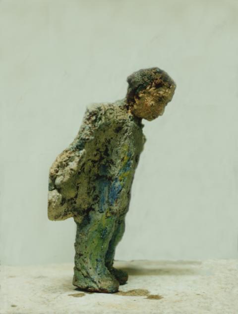 Wieland, Ungebrannter Ton, Leinöl, 30 cm, 1993