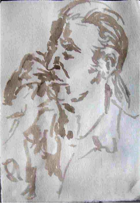 Rudi Kund, Tusche auf Papier, 2012