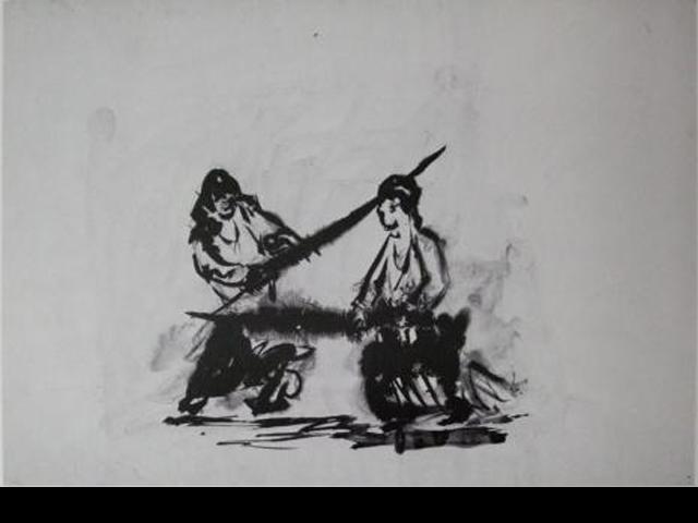 Die Duellisten, tusche auf Papier, 1982