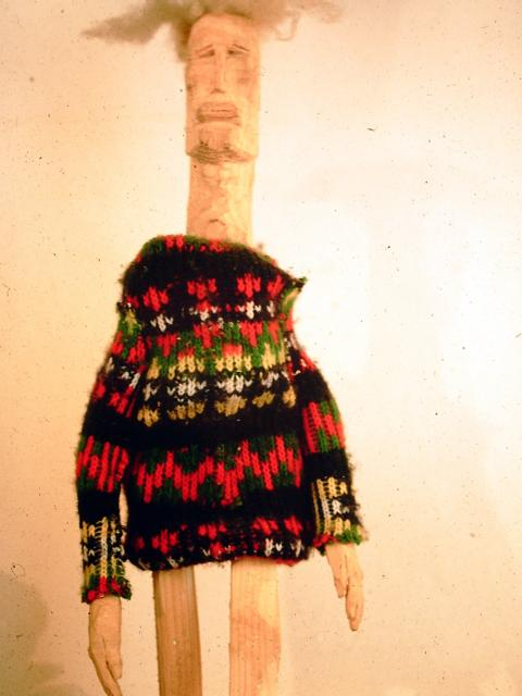 Sonderling,  Holz, Textil, 45cm, 1985
