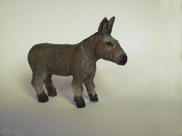 Esel, Akazienholz, 12×15cm, 2017