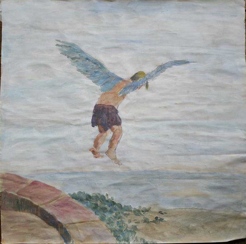 Wieland, Eitempera auf Papier, 40x44cm, 1993