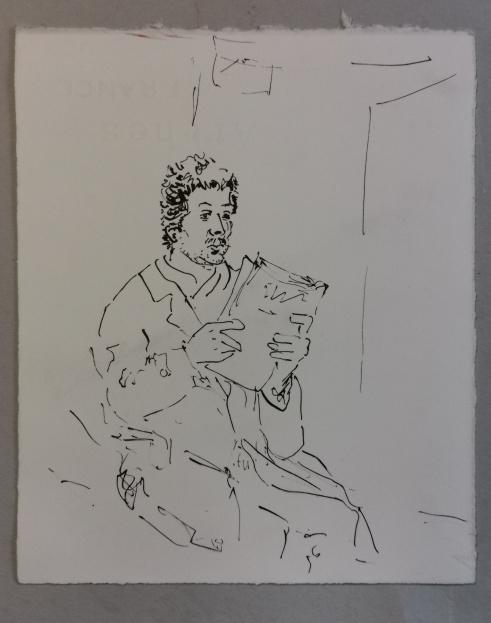 In der wartehalle, Tusche auf Papier, 1992