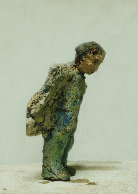 Wieland, 25cm, Ungebrannter Ton, Leinöl, 1993