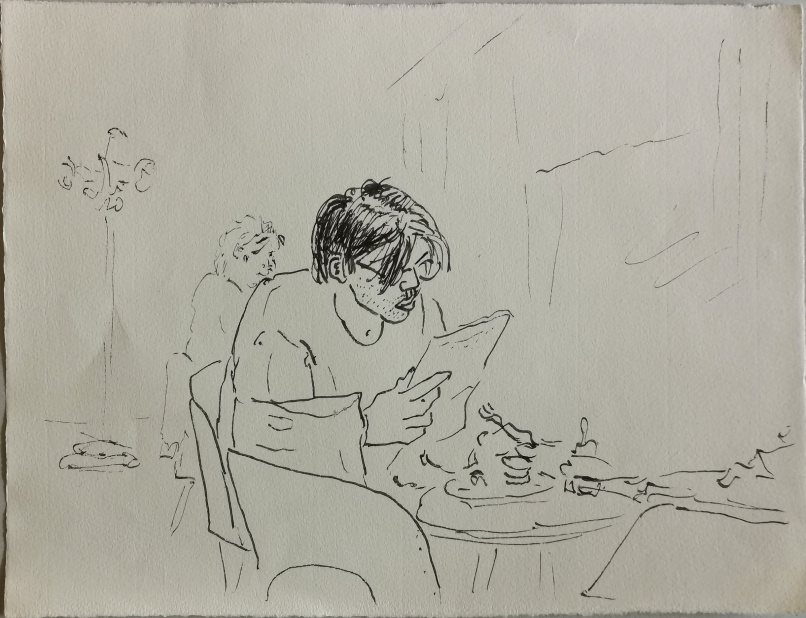 Im Lokal, Tuschestift, 1991