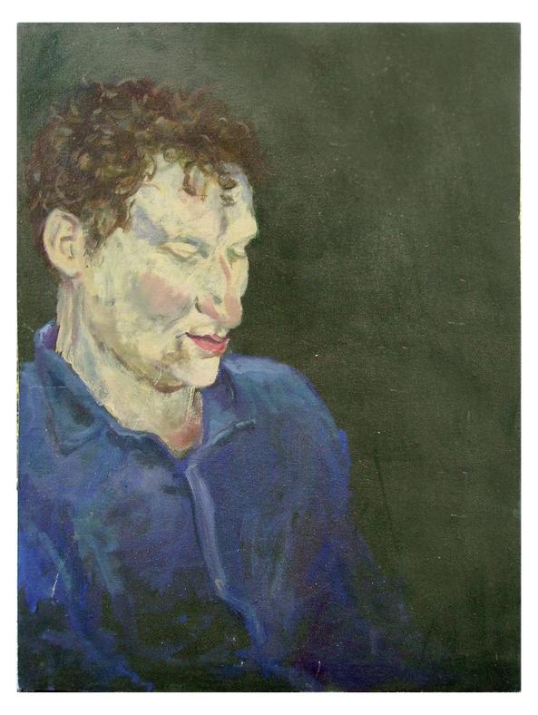 Portrait Stephan Conrady, Öl auf Holz, 50 x 65 cm, 1989