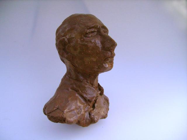 Lehrer, Ungebrannter Ton, 25 cm, 1992