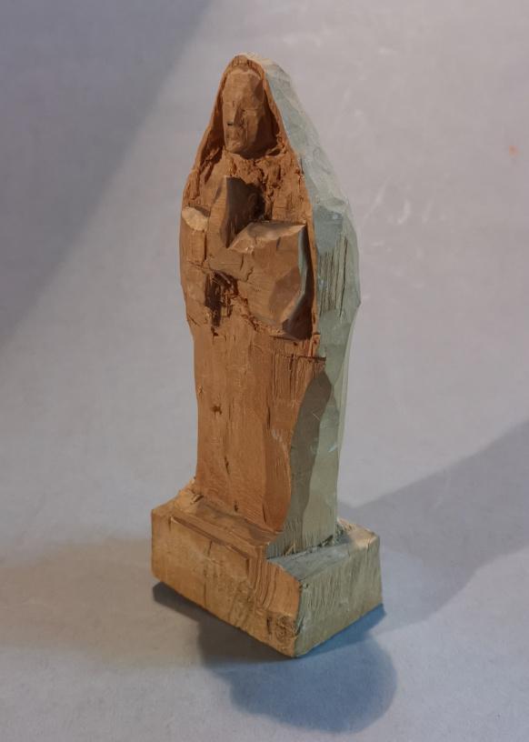 Heiligenstatue, Lindenholz, 15 cm