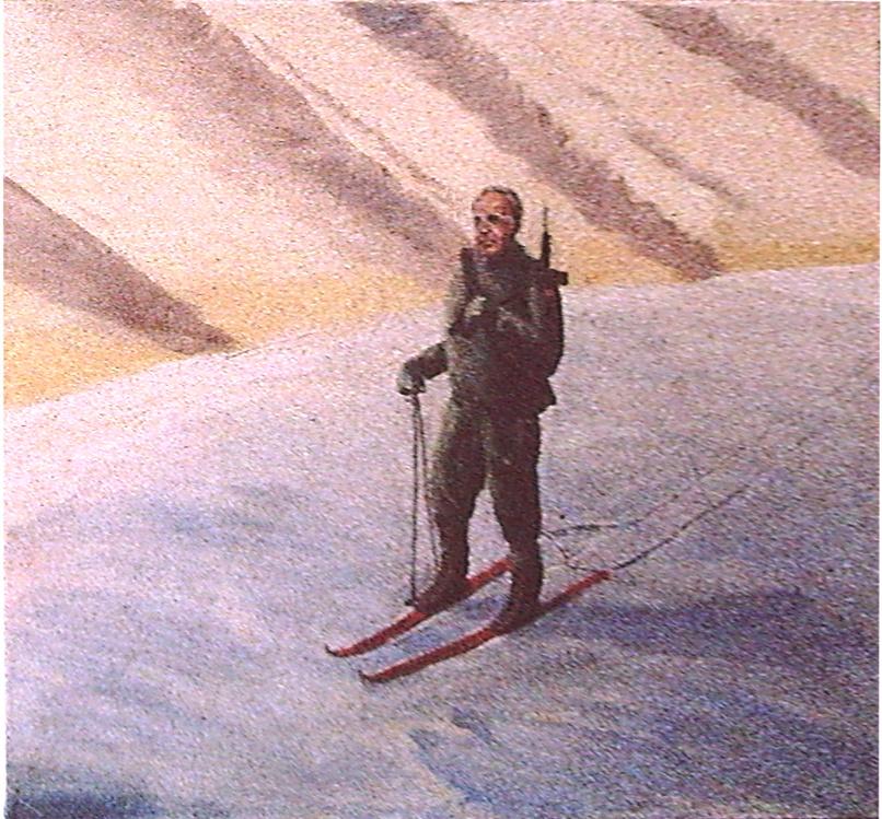 Der Partisan, H.Kohl, eitempera auf Leinwand, 1985