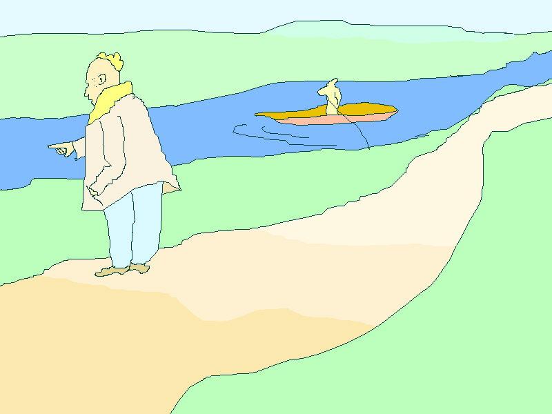 Am Fluß, Mauszeichnung, 2002