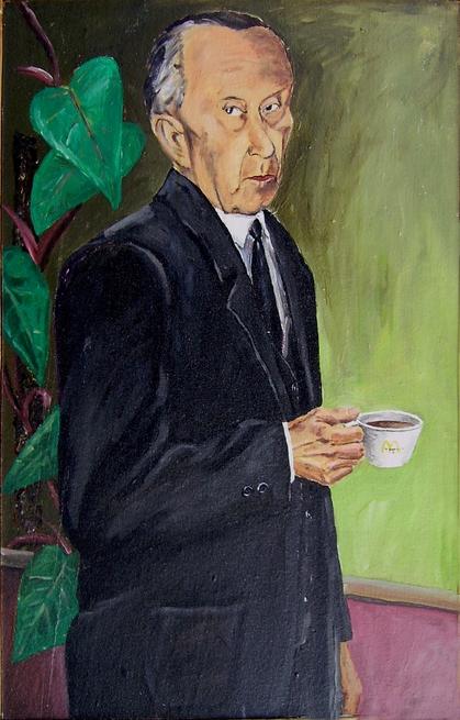 Adenauer, Acryl auf Hartfaser, 100x 130cm, 1983