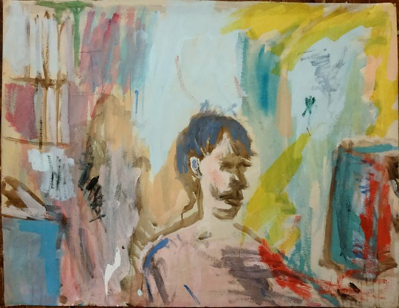 Portrait Y., 80×120 cm, acryl & öl auf pappe, 2012