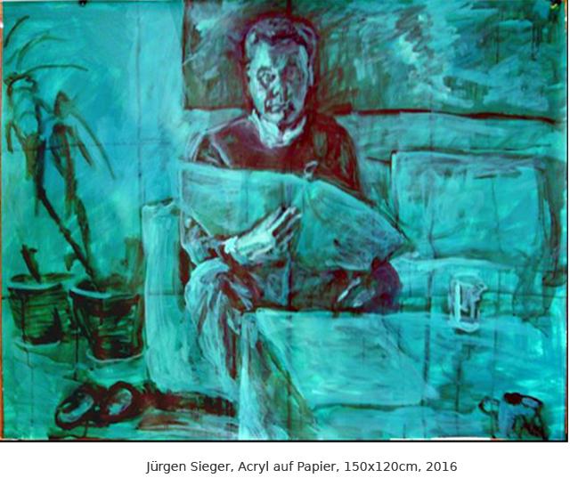 Jürgen, Acryl auf Papier, 110x150cm, 2017