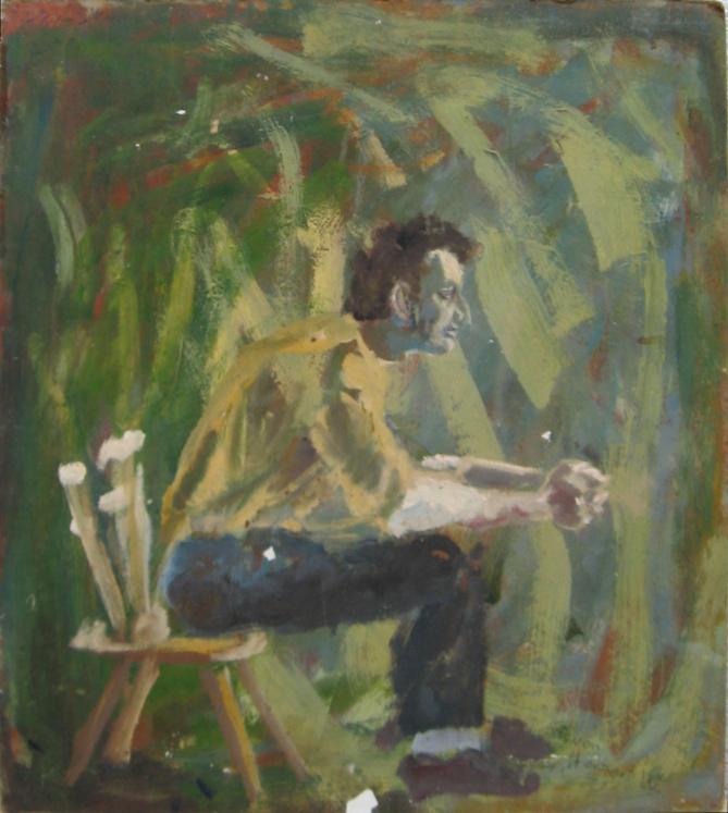 Stephan Conrady, 60x60cm, Öl auf Holz, 1990