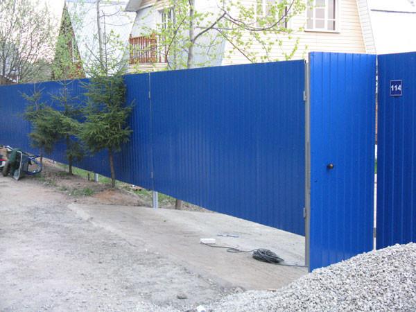 Заборы в солнечногорске для дачи профальянс волжск ворота