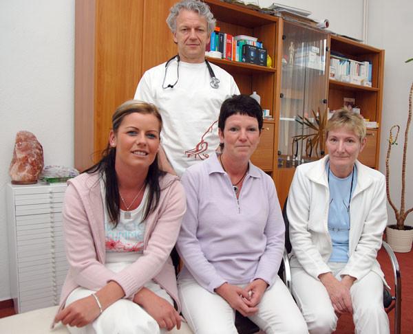 Marita Morawe (Leitende Schwester), Sandra Müller (Schwester),Ingrid Langhammer (Schwester, v.l.)