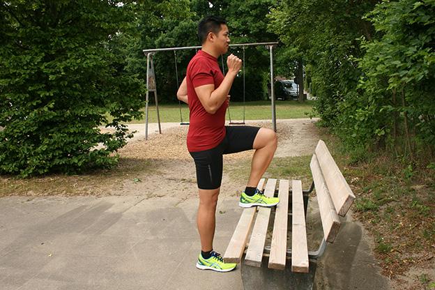 Parkbank-Übung für Läufer, Dr. Matthias Marquardt, Sehnenexperte