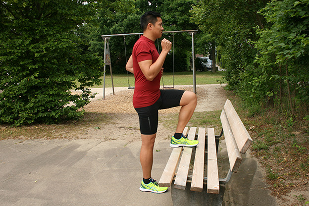 Dr. Matthias Marquardt, MARQUARDT RUNNING Athletik-Uebung: Parkbank 01