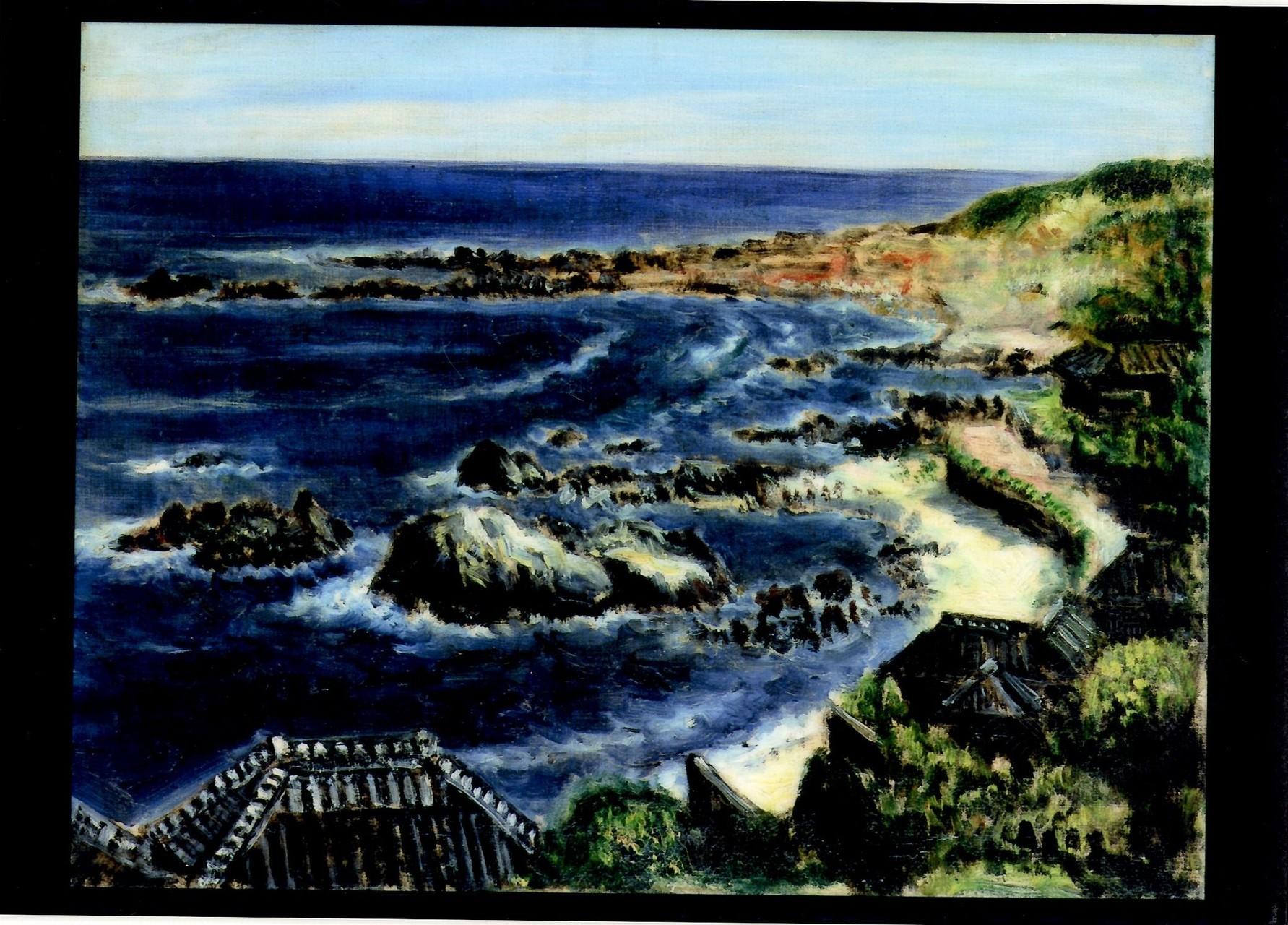 初夏海浜 40.7x53.0