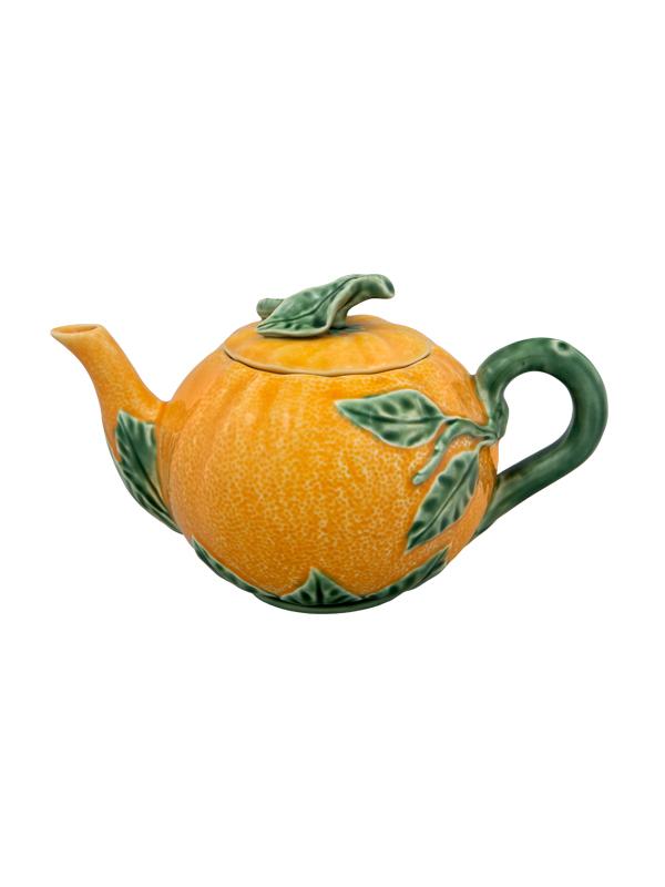 "Teekanne ""Orange"" Keramik 1Liter"
